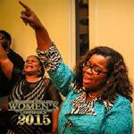 Elder Diana Casteel and Sister Tonia enjoying Friday Night services as Prophetess Linda Roark ministers